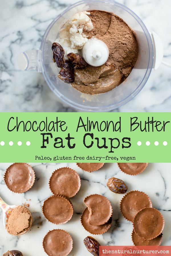 Chocolate Almond Butter Fat Cups  are something I have kicking around my fridge at all times. One little cup is all I need to zap the strongest of craving. And the best part is, I am satisfying that sweet tooth calling with healthy fats and protein mixed with natural sweeteners and amazingly healthy cacao powder. A treat that actually serves my body instead of weighing me down. #paleotreats #healthytreats #fatcups #fatbombs
