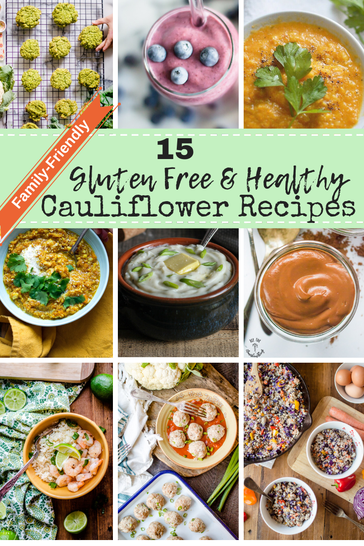 Cauliflower is an awesome vegetable that is full of nutrients and vitamin. It is also a veggies that most people can easily find year-round.  And while enjoying it raw, roasted or steamed can be lovely, there are so many wonderfully creative ways to get the awesomeness of cauliflower into your body and belly! #veggieloaded #glutenfree #healthyfamily #hiddenveggies #familyfriendlyveggies