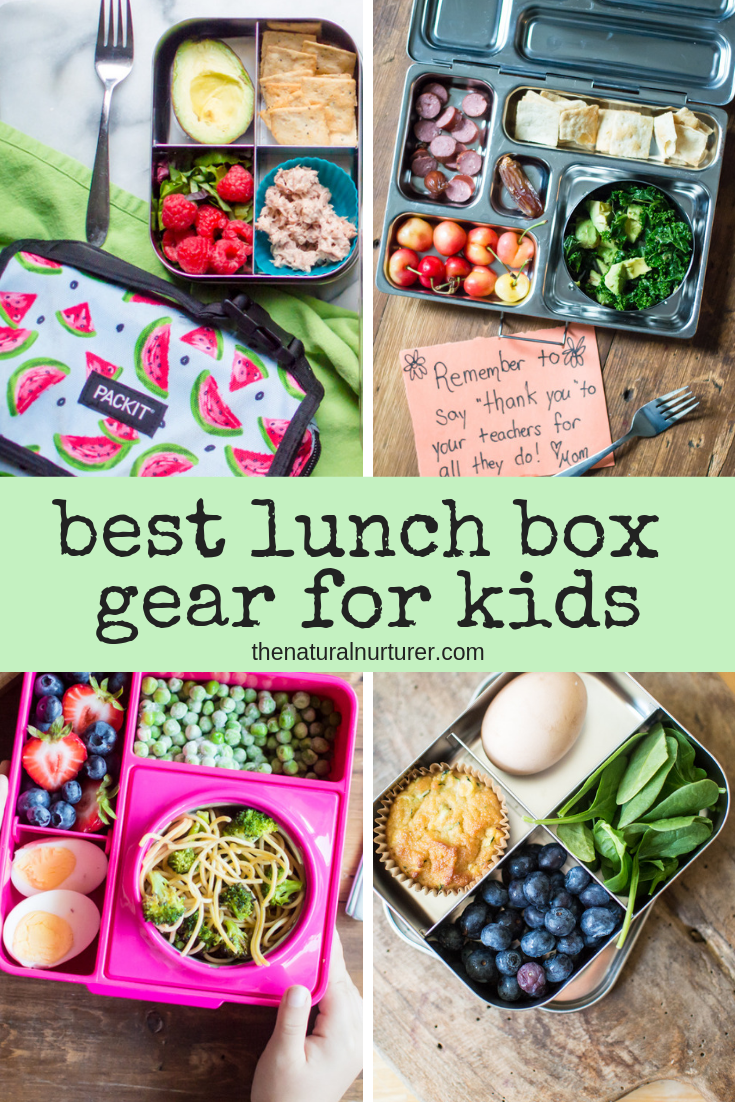 These are my favorite, tried-and-true lunch containers and gear for kids that makes lunch packing easy for all! #healthykids #kidlunchboxes #lowwastelunchbox