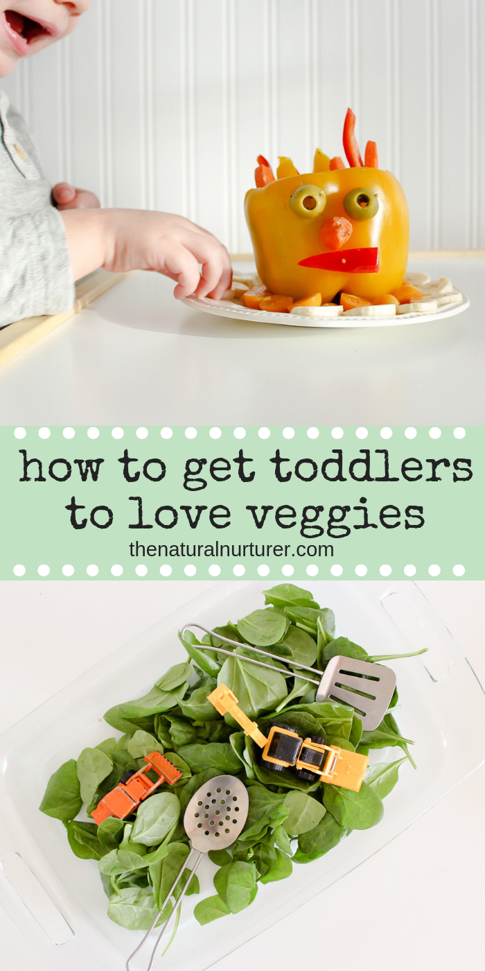 Vegetables are something so many parents and caregivers struggle with when it comes to the toddler years. However, the key for helping young children embrace veggies in their life might start with the simple act of playing with their food! #healthykids #positiveparenting