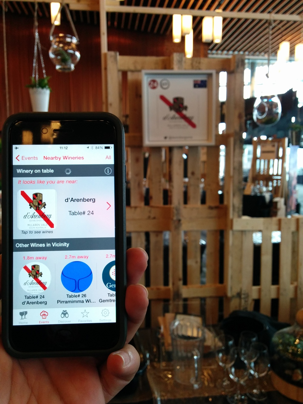 The use of beacon technology enables detection of winery in proximity