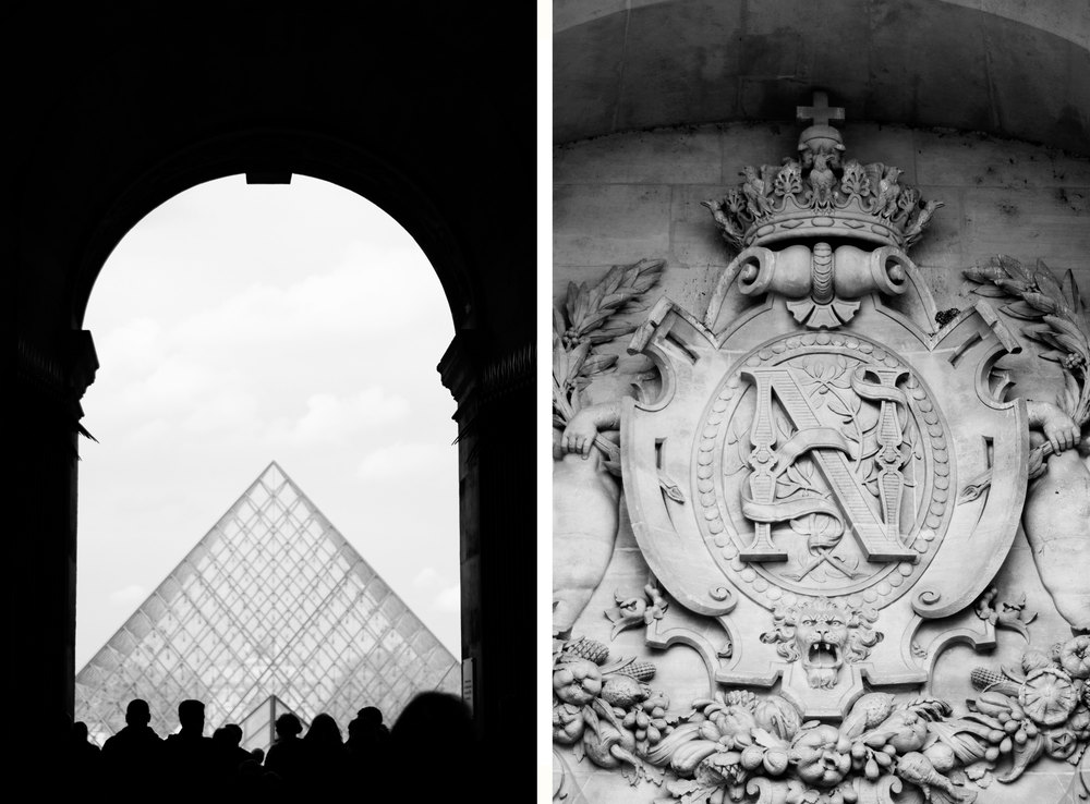 The Louvre - Photo by Annie Mertlich