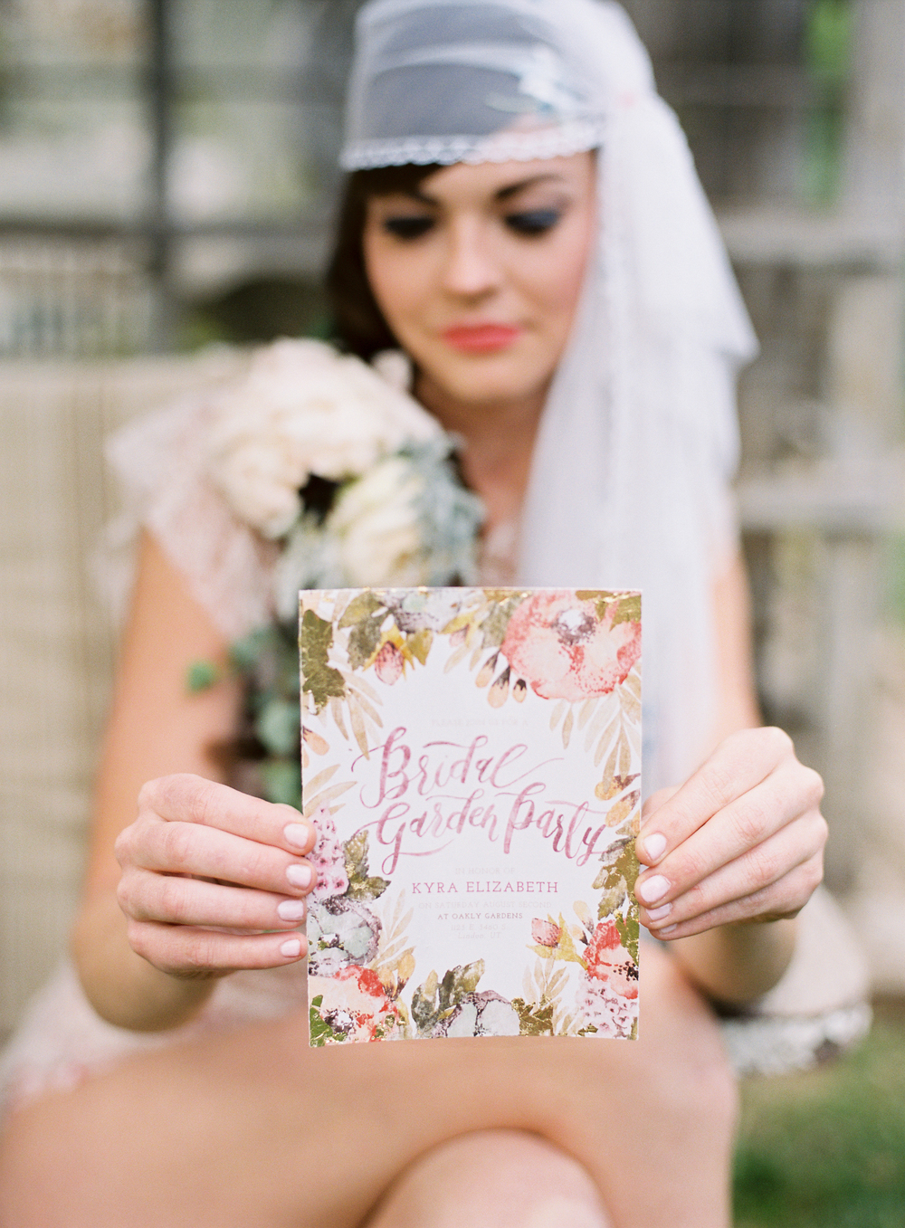 Bridal Shower Invitation by Wildfield Paper Co | Photo by Loblee Photography
