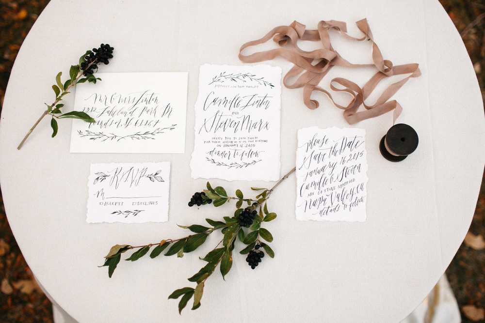 Dreaming in Calligraphy - Calligraphy by Annie Mertlich - Photo by Mary Claire Photography