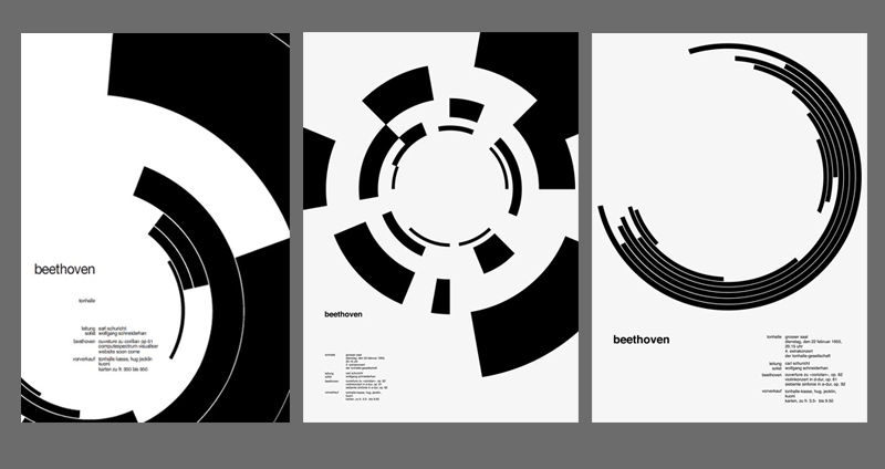 These posters by Swiss designer Josef Muller Brockmann kickstarted my formal explorations.