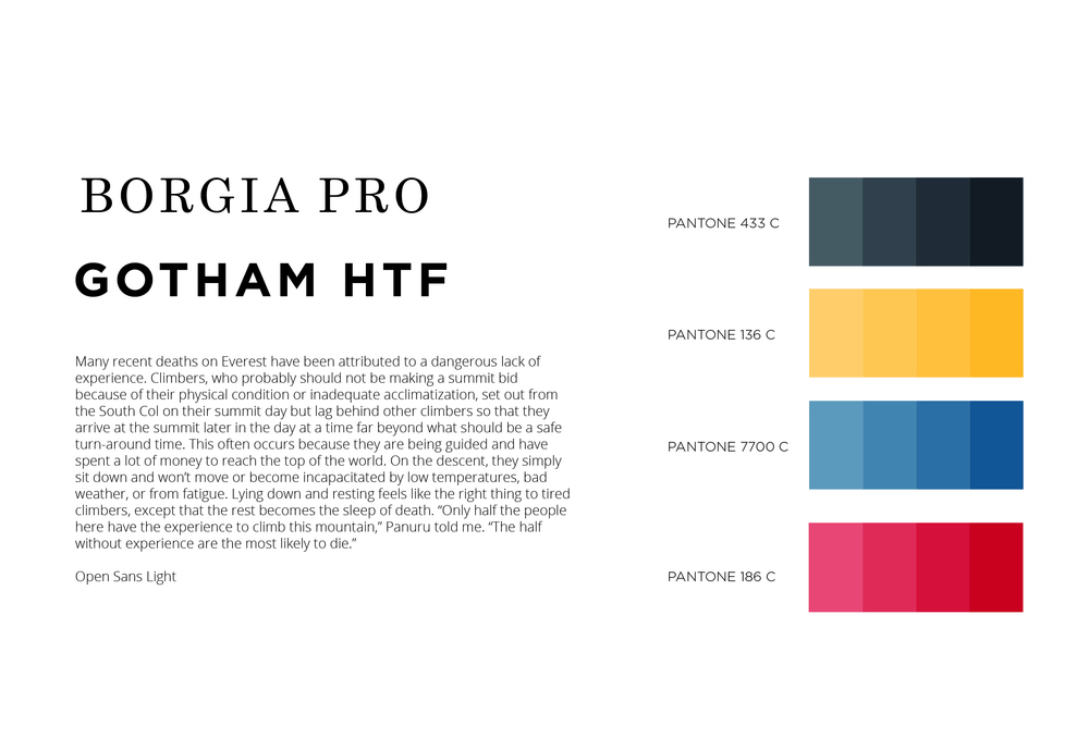 Font & color combinations