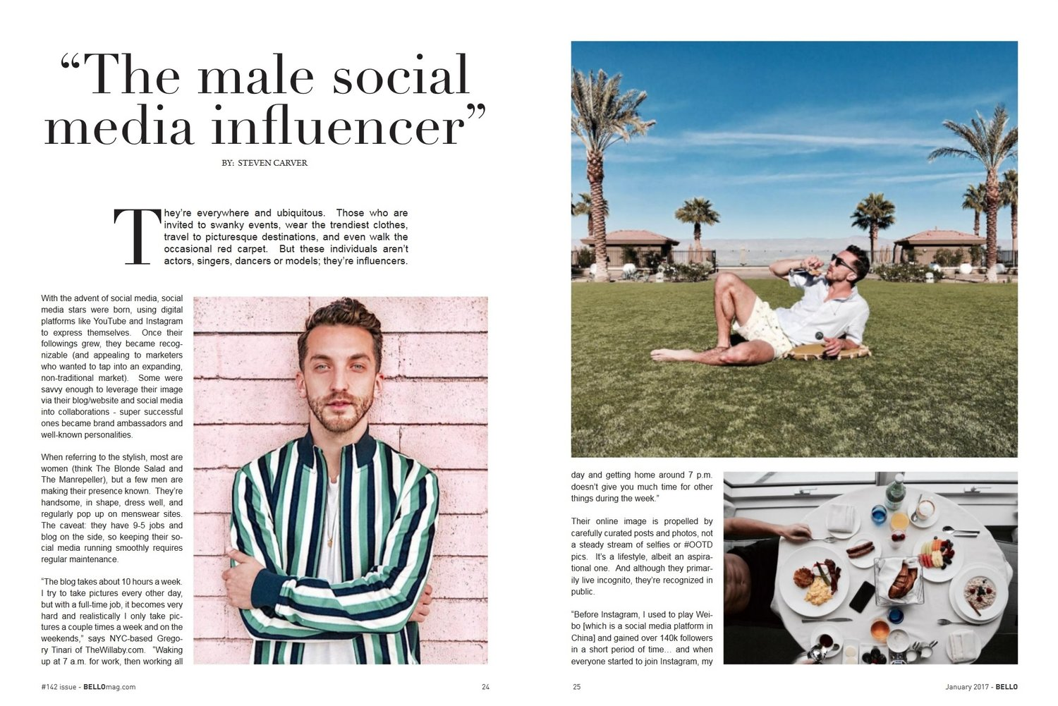 Bello - The Male Social Media Influencer — Char1es ONE