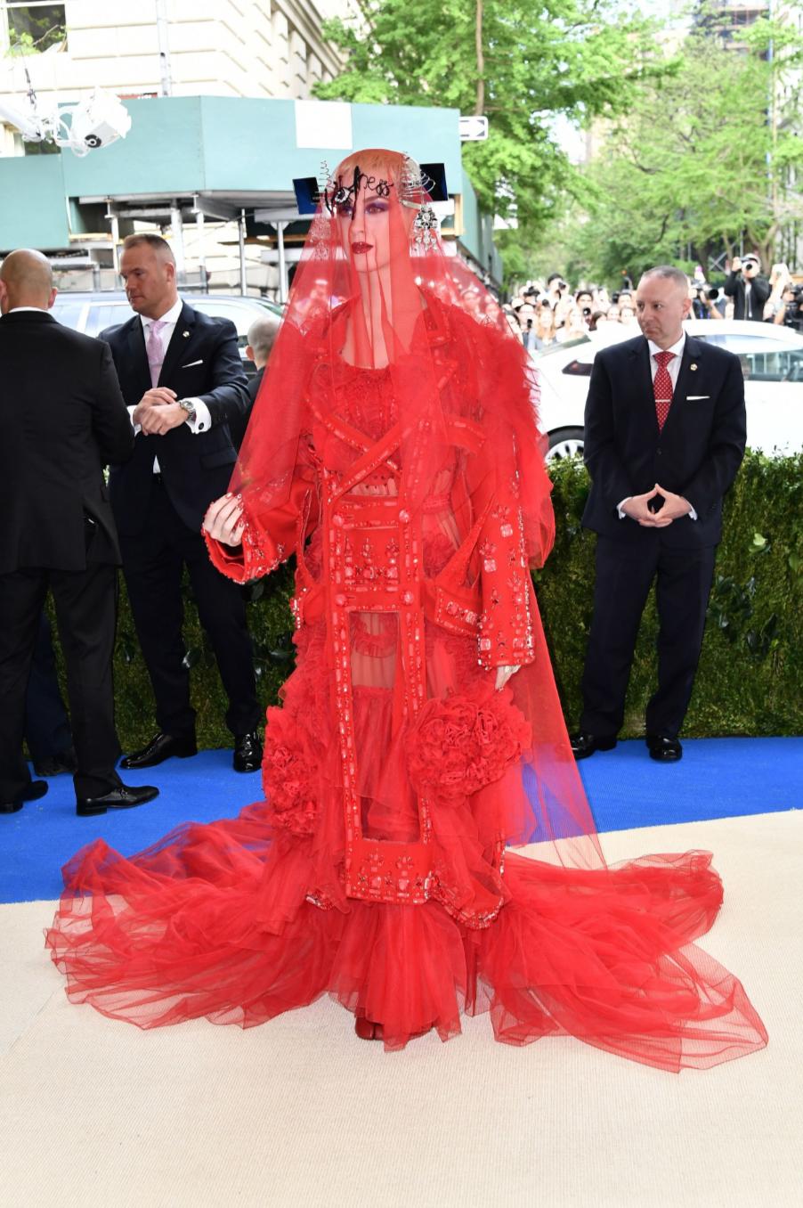 Katy Perry in John Galliano for Maison Margiela
