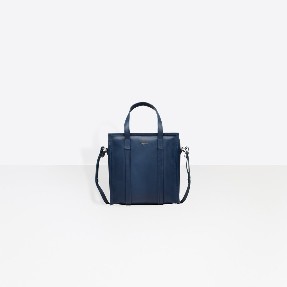 Bazar small navy shopper tote