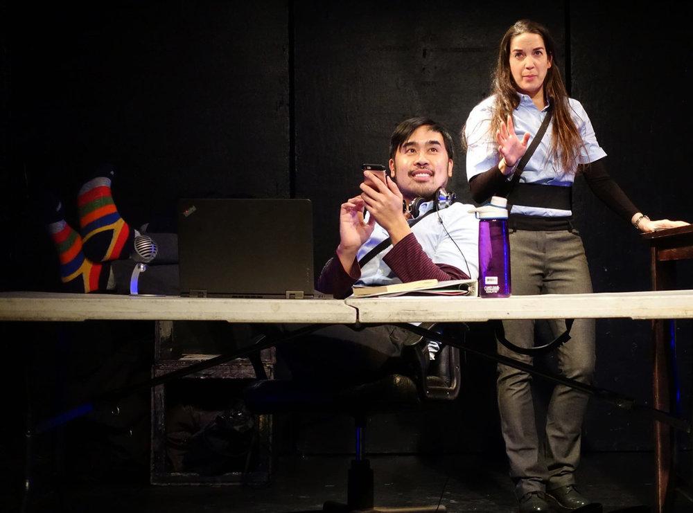 Katie Krueger and Philip Estrera in Arika Larson's piece directed by Matt Weiss.