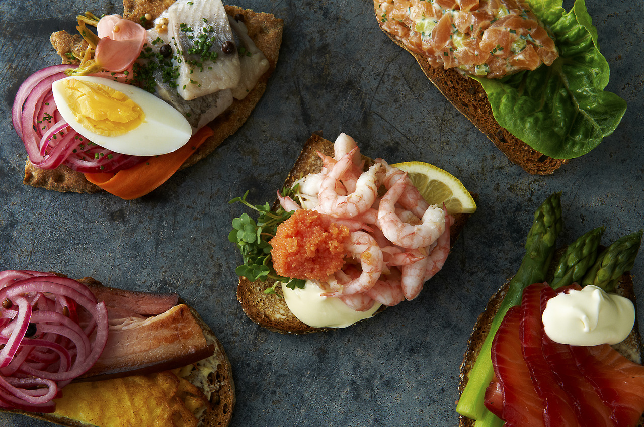 A selection ofsmörgås, or 'Ulrich Sandwiches', a traditioanal Swedish snack, whipped up by Tomas the Swedish Chef