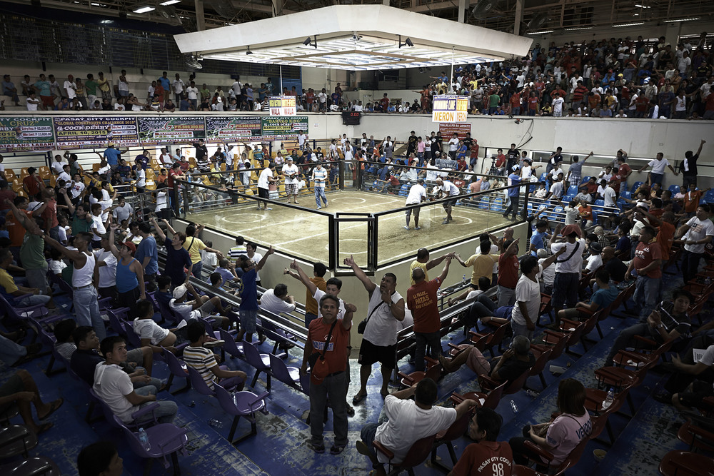 The main arena of the Pasay Cockpit in Manila.