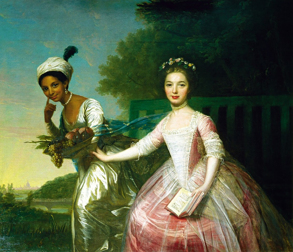 Dido Elizabeth Belle Murray and cousin Elizabeth Murray in a painting attributed to Johann Zoffany, 1779