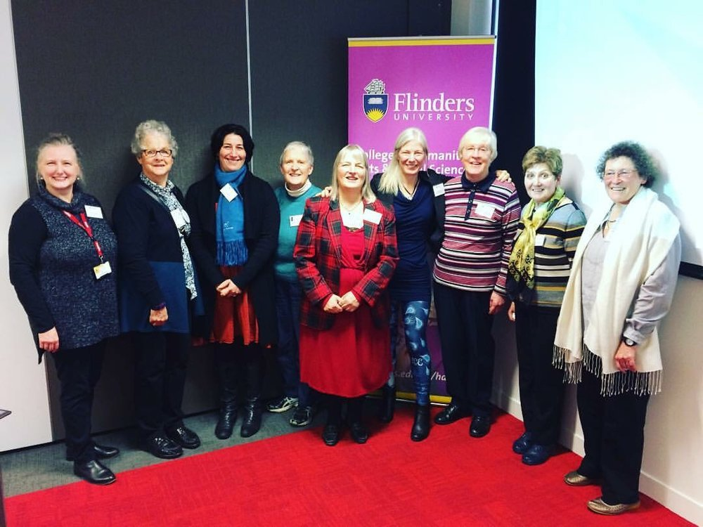 Some members of our Adelaide Jane Austen Society with Gillian Dooley (5th from left) and Devoney Looser (4th from right, looking at the photo)