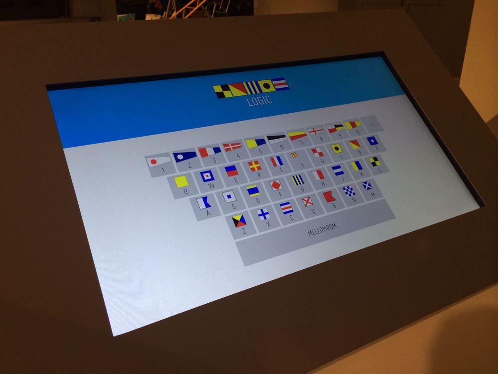Signalflagg detalj