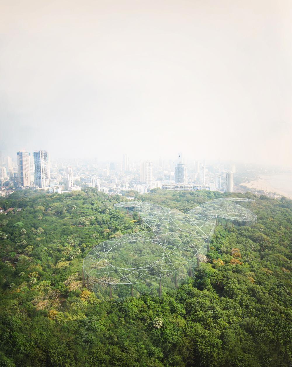 Parsi  Funereal   Aviary  ,Doongerwadi,Mumbai Heatherwick Studio Project Architect: Peter Ayres