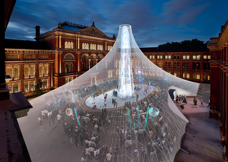 Icicle Tent  Victoria & Albert Museum, London Heatherwick Studio Project Architect: Peter Ayres
