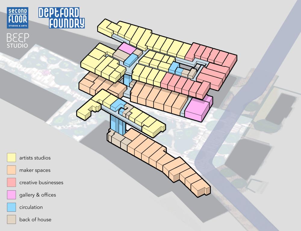 Massing diagram (c) Beep Studio