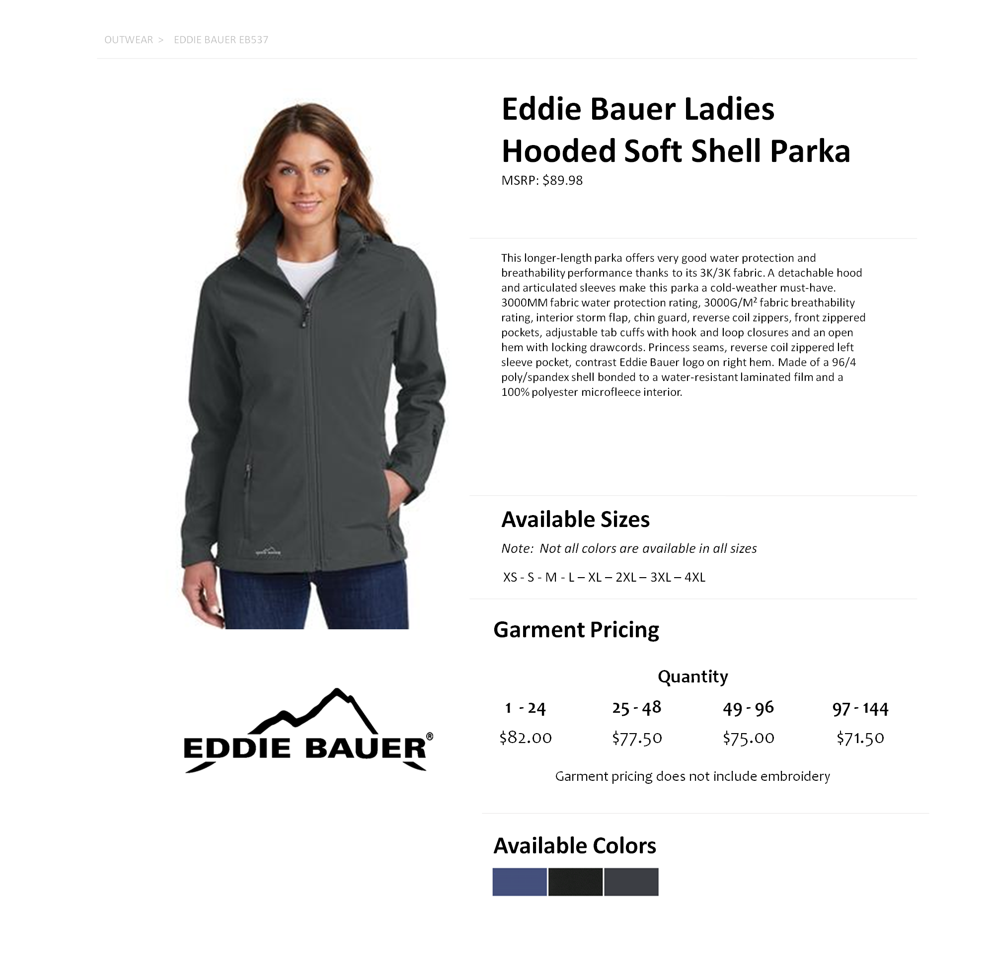 e038ca6b35e EB537 Eddie Bauer Hooded Soft Shell Jacket Parka — American Icon Merchandise