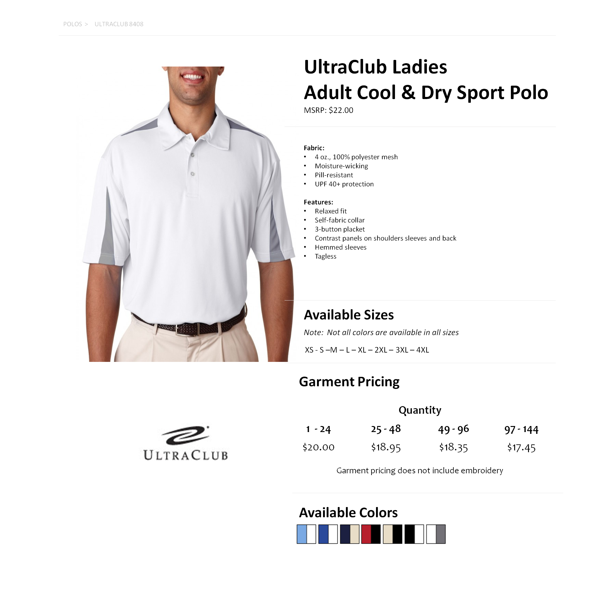 Moisture Wicking Polo Shirts Embroidered Bcd Tofu House