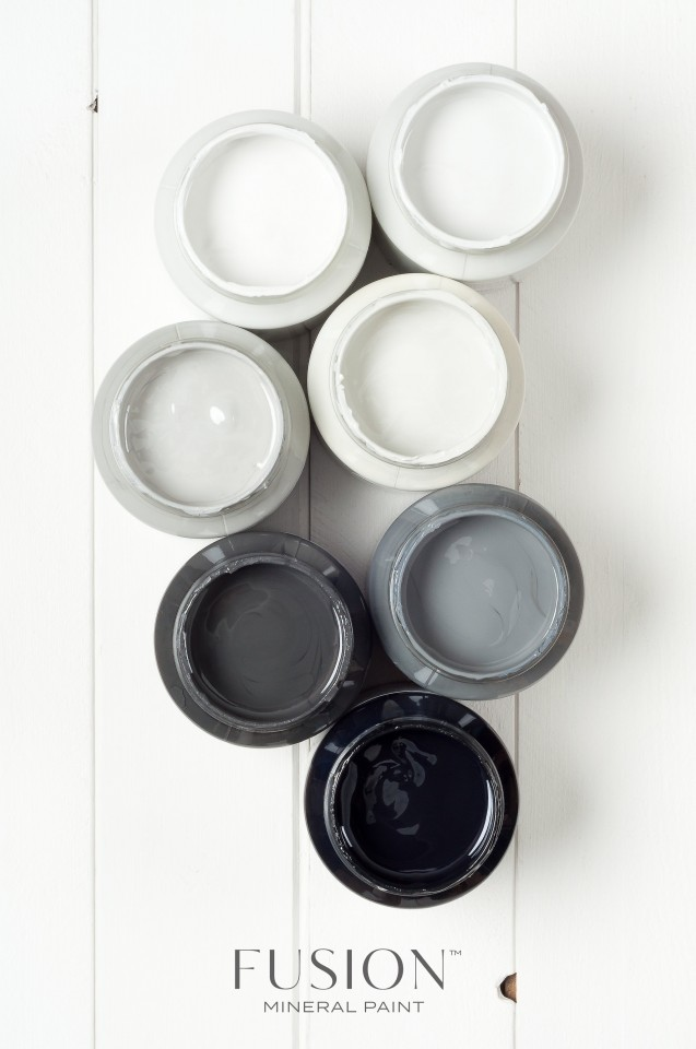So many grey based neutrals to select from. Jackie and Ryan's kitchen  is so light filled and grey is the perfect choice.