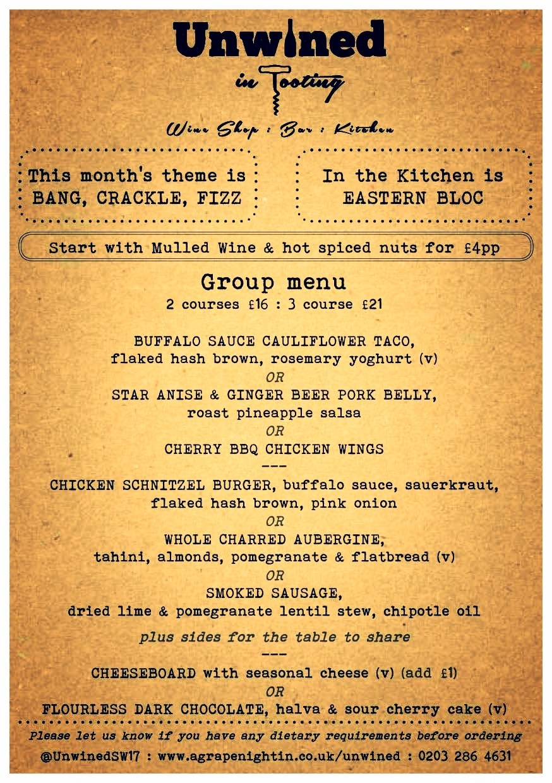 click on menu to enlarge