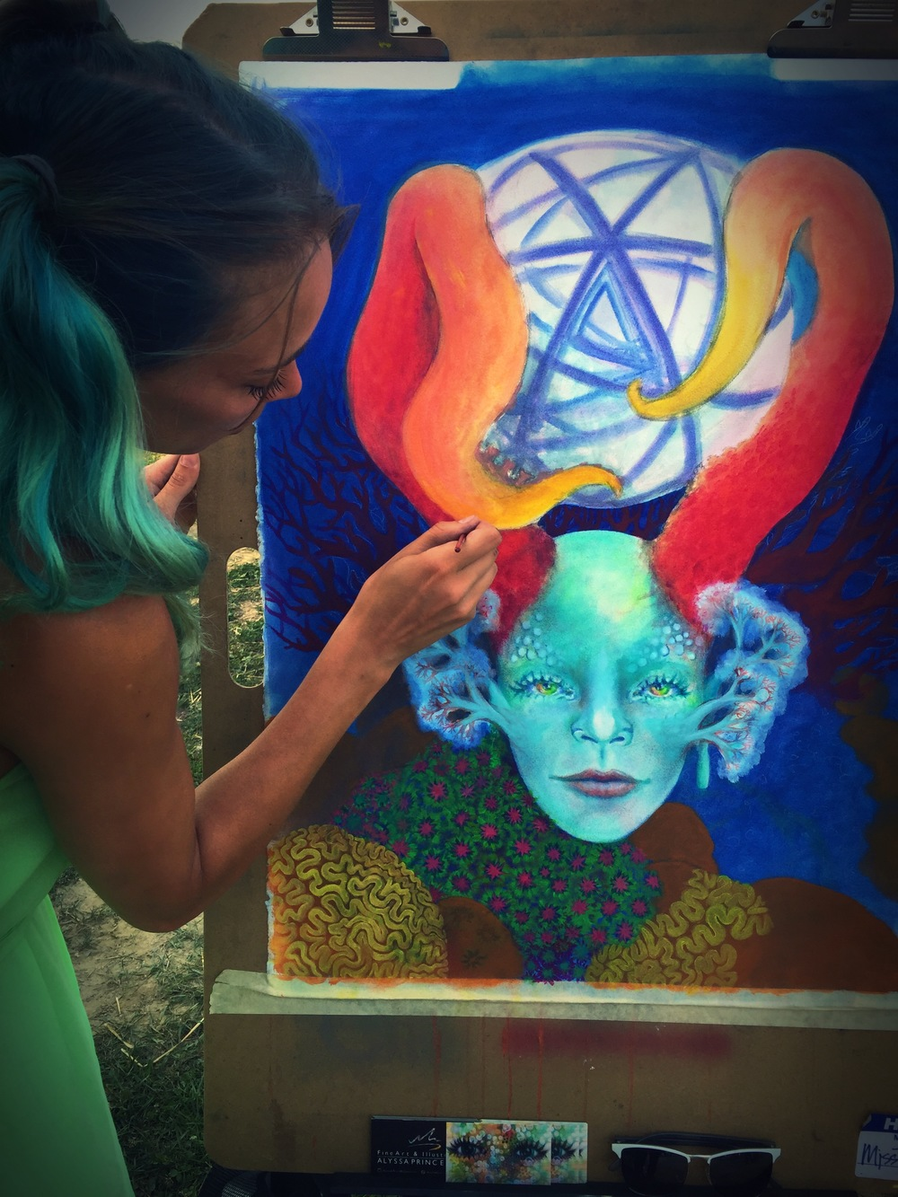 Painting live at The Michigan Cannabis Cup 2015