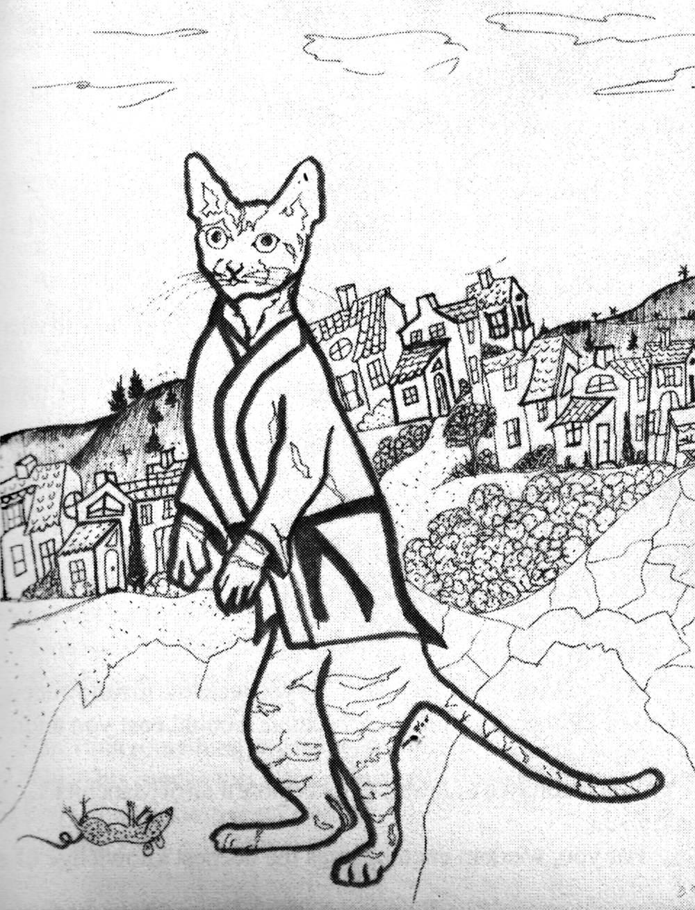 Illustration from The Philosophy Of My Wandering Cat