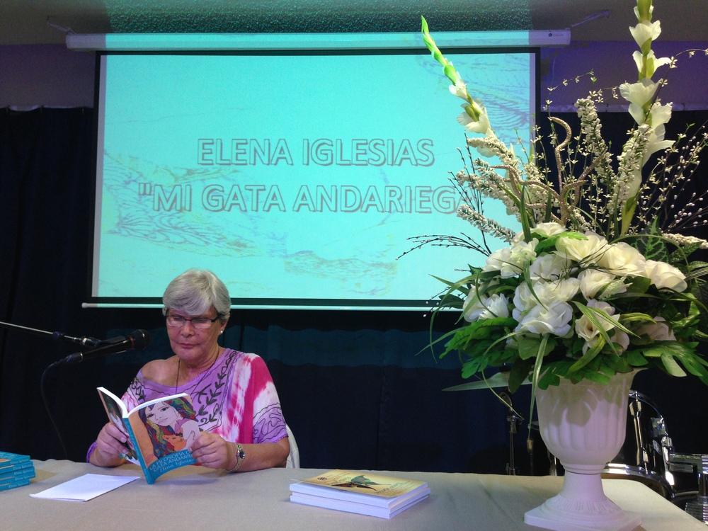 """Presentación de """"La filosofía de mi gata andariega"""" el 27 de abril, 2014, en Misión Amor."""