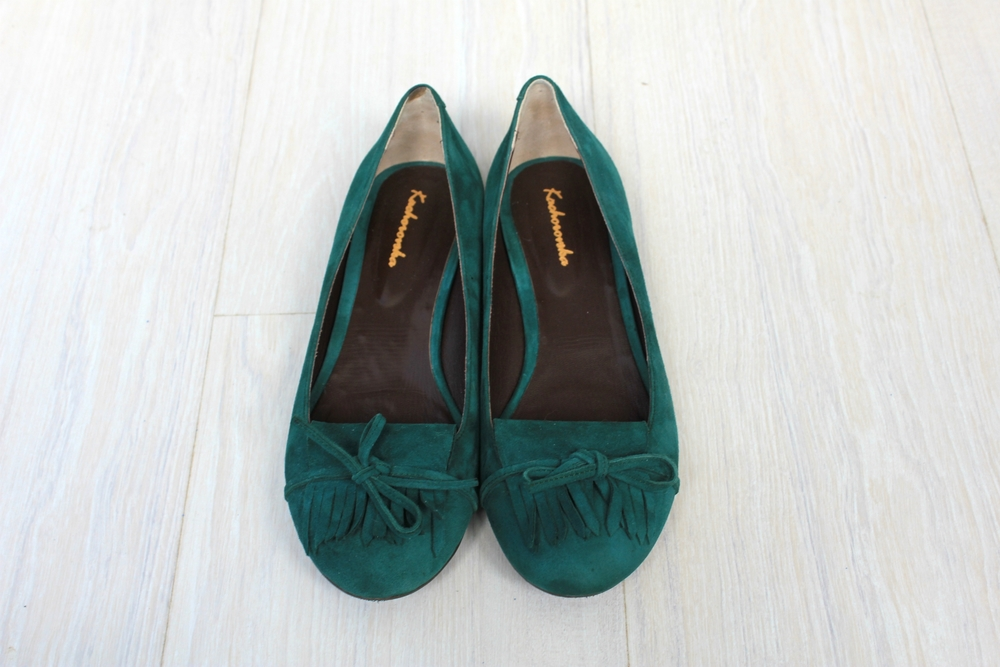 emerald loafers
