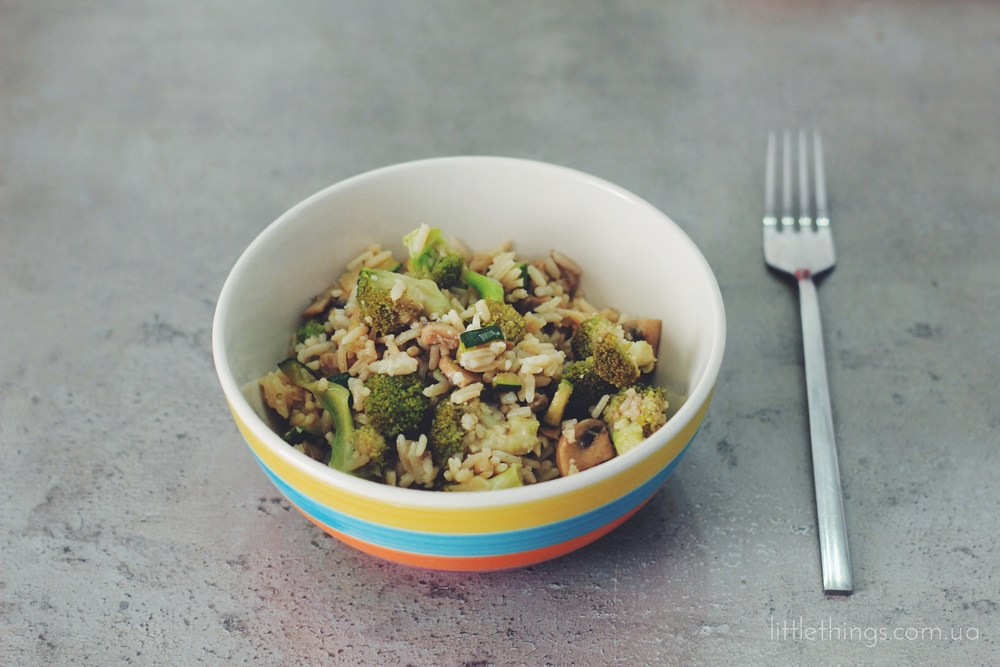 rice with veggies