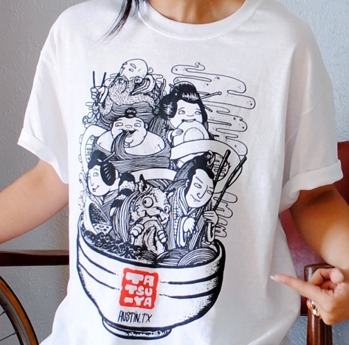 ramen tatsu-ya t-shirt designed by briks.