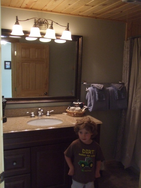 The latest remodel, room 9. (Child not included)