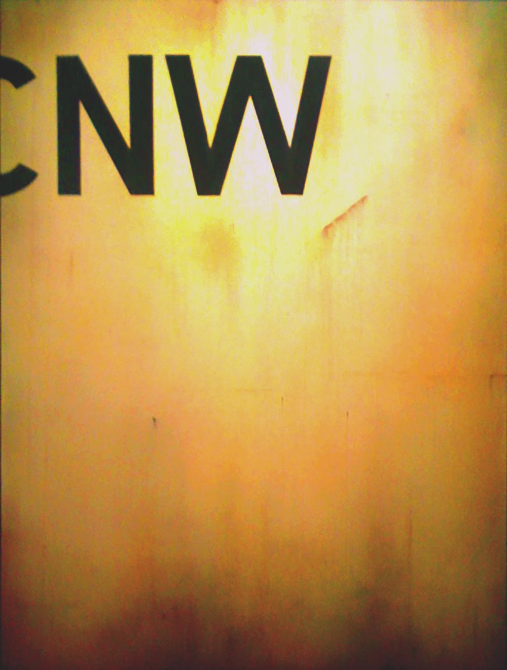 Blank Canvas #3 – C&NW Hopper, Freight Train Painting, Boxcar Painting, Railroad Art, Tim Conlon Art