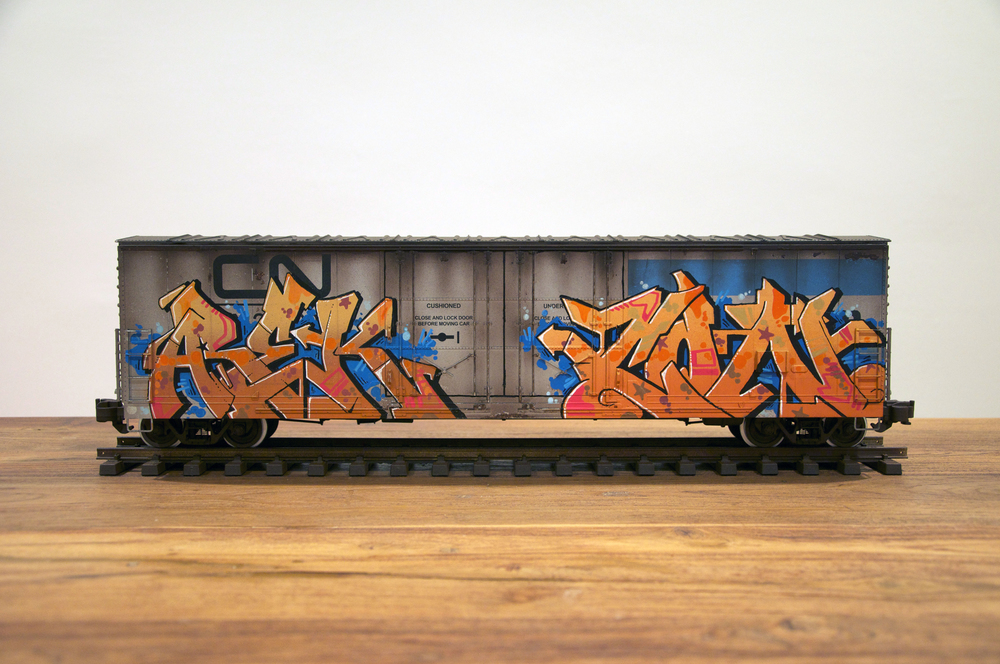 CN #4, G Scale Train, Freight Train Graffiti, Railroad Art, Tim Conlon Art