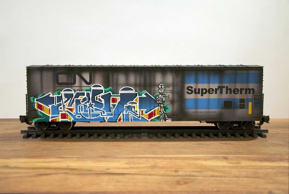 CN #3, G Scale Train, Freight Train Graffiti, Railroad Art, Tim Conlon Art