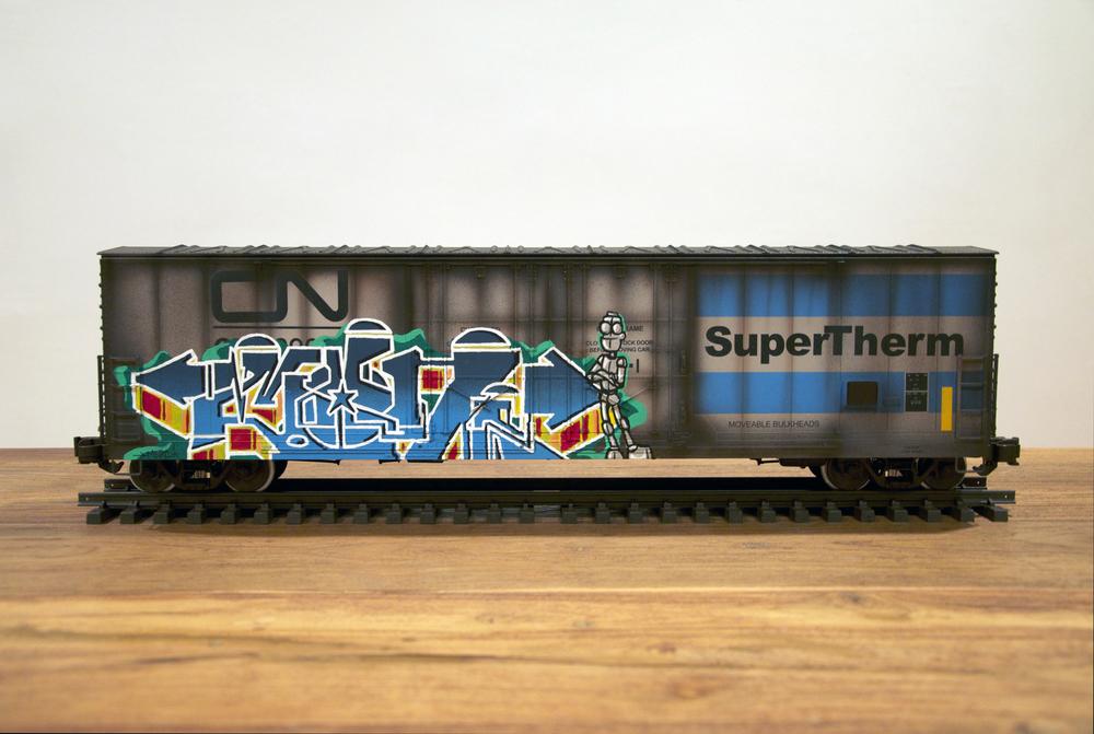 CN #3, G Scale Train, Freight Train Graffiti, Railroad Art, Tim Conlon Art