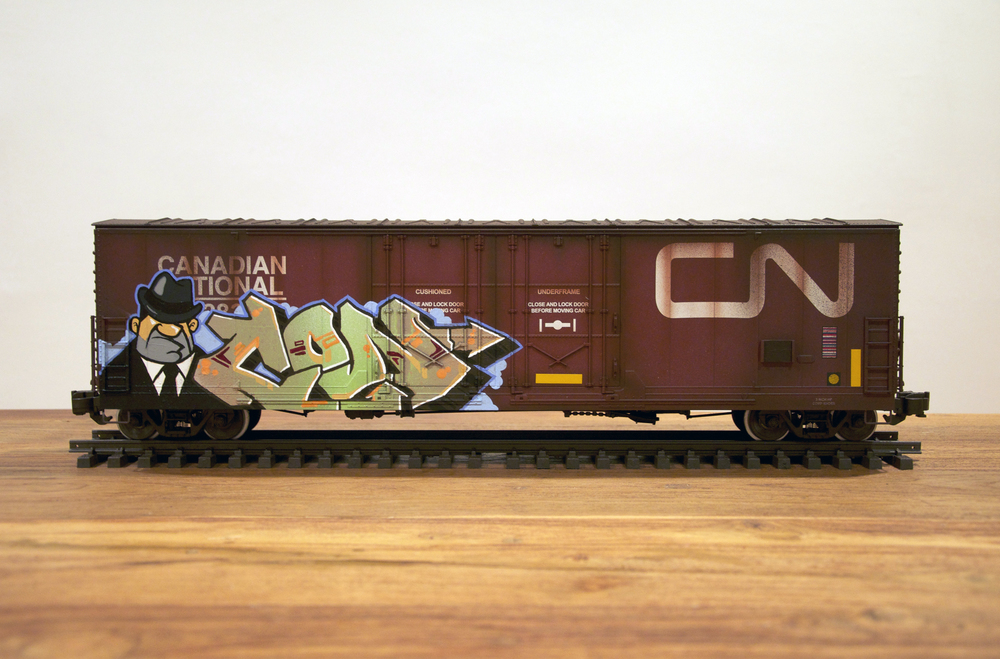 CN #2, G Scale Train, Freight Train Graffiti, Railroad Art, Tim Conlon Art