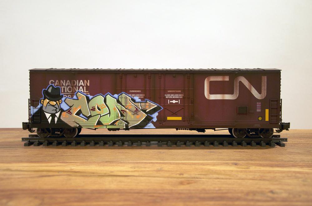 CN #2, G Scale Train, Freight Train Graffiti, Railroad Art, Tim Conlon Art
