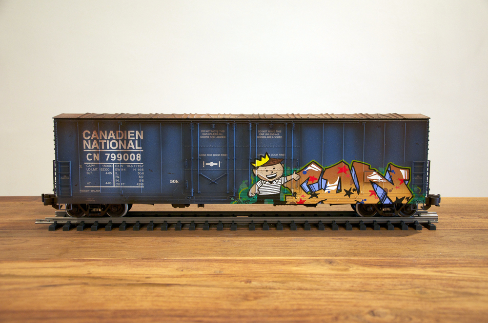 CN, G Scale Train, Freight Train Graffiti, Railroad Art, Tim Conlon Art