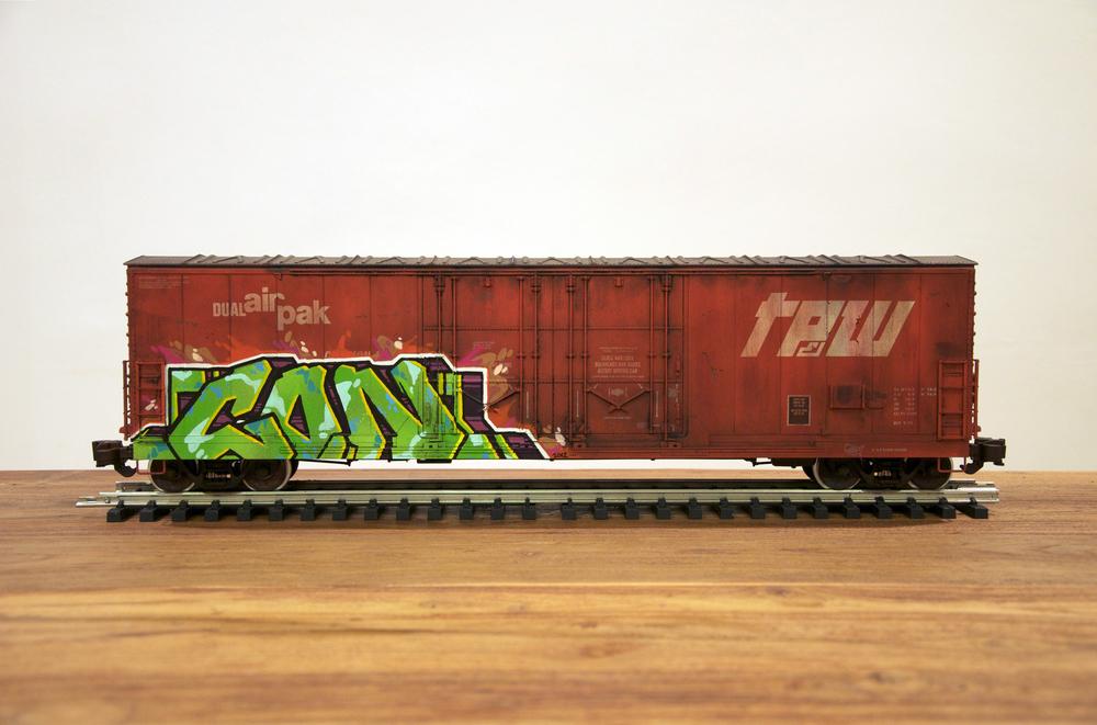 TPW, G Scale Train, Freight Train Graffiti, Railroad Art, Tim Conlon Art