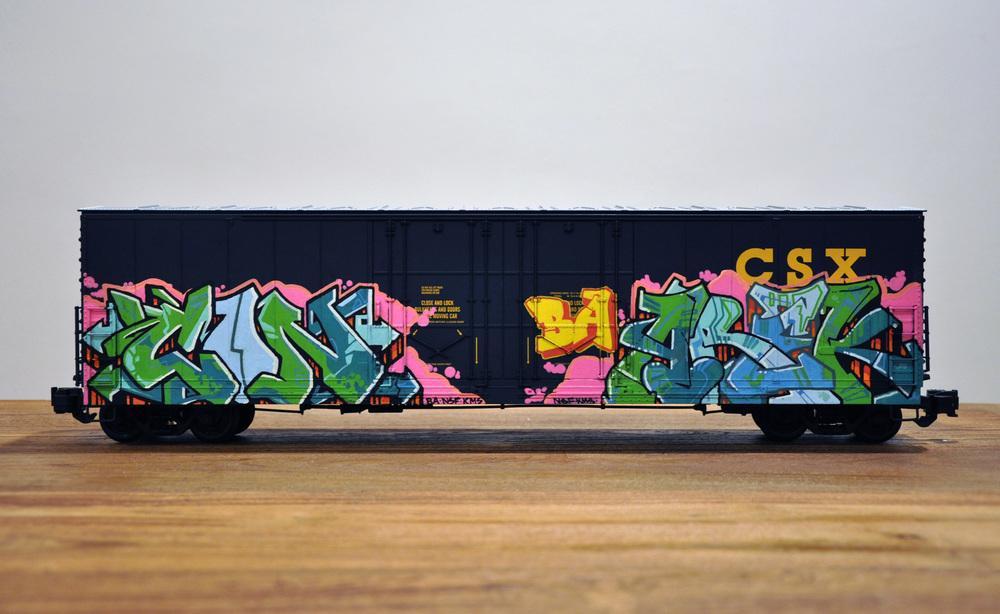 CSX – LA MOCA Art in the Streets, G Scale Train, Freight Train Graffiti, Railroad Art, Tim Conlon Art