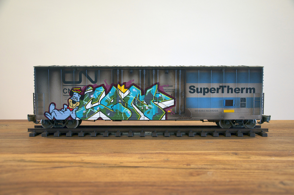 CN #10, G Scale Train, Freight Train Graffiti, Railroad Art, Tim Conlon Art