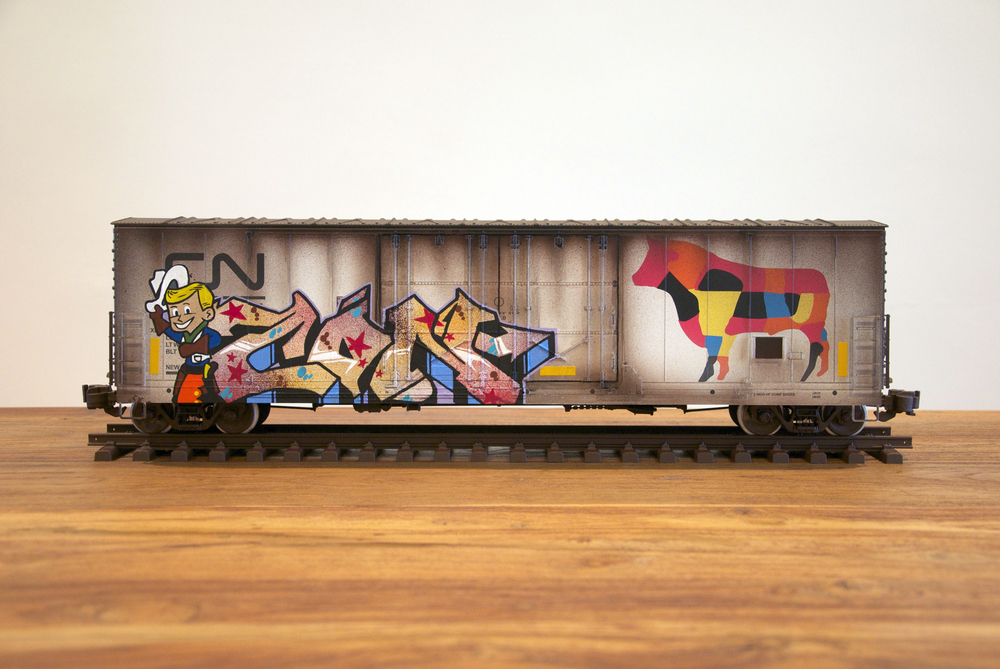 CN #11, G Scale Train, Freight Train Graffiti, Railroad Art, Tim Conlon Art