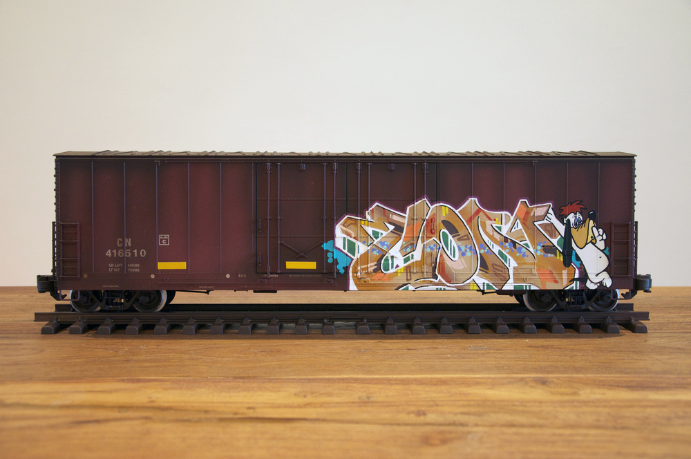 CN #13, G Scale Train, Freight Train Graffiti, Railroad Art, Tim Conlon Art