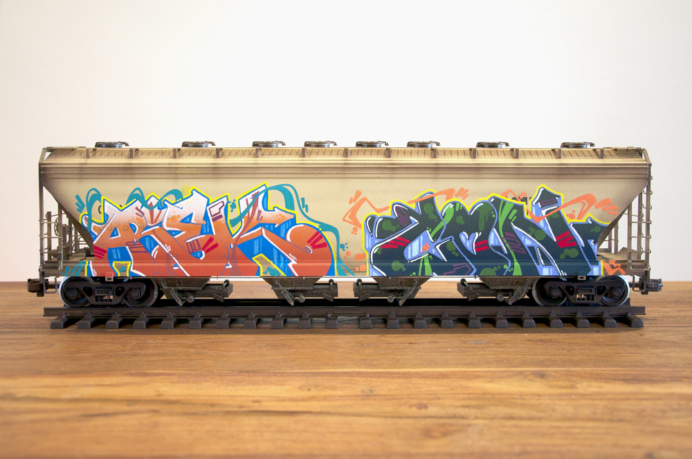 CSXT #2, G Scale Train, Freight Train Graffiti, Railroad Art, Tim Conlon Art