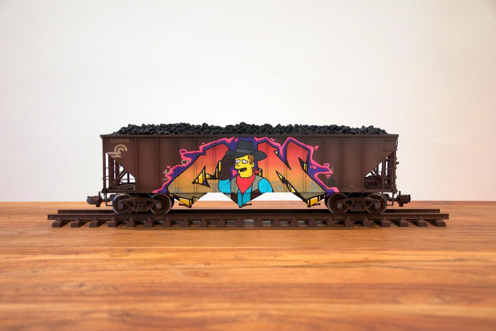 Conrail #3, G Scale Train, Freight Train Graffiti, Railroad Art, Tim Conlon Art