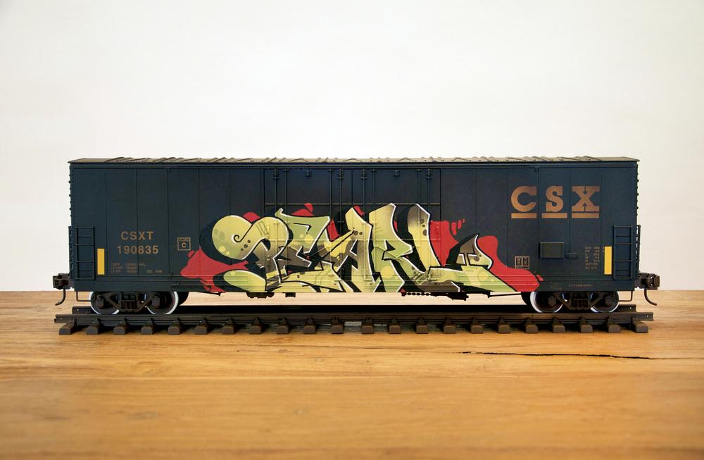 "CSX #5 - ""PEARL"", G Scale Train, Freight Train Graffiti, Railroad Art, Tim Conlon Art"