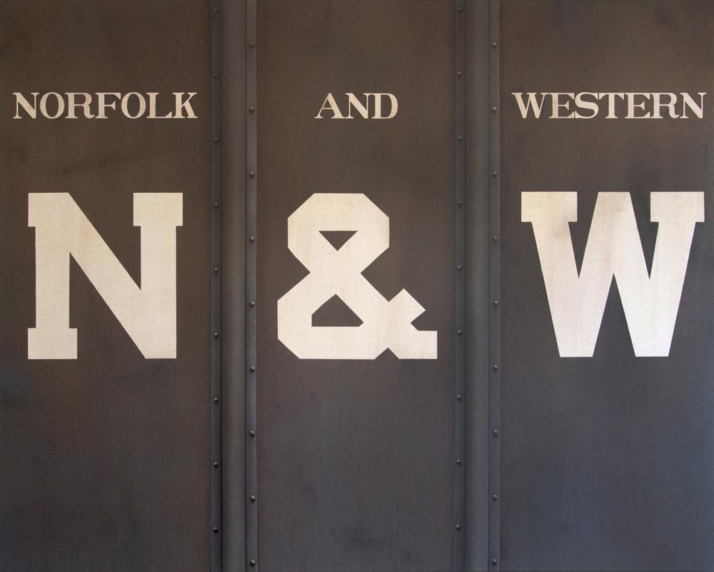 Blank Canvas #61 – N&W, Freight Train Painting, Boxcar Painting, Railroad Art, Tim Conlon Art