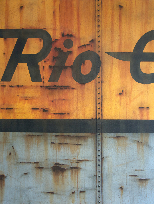 Blank Canvas #59 - Rio Grande, Freight Train Painting, Boxcar Painting, Railroad Art, Tim Conlon Art